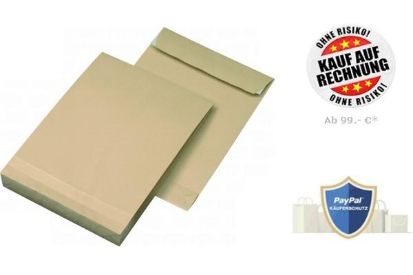 Faltentasche DIN B4 130g/m² Braun (250 Stk.)